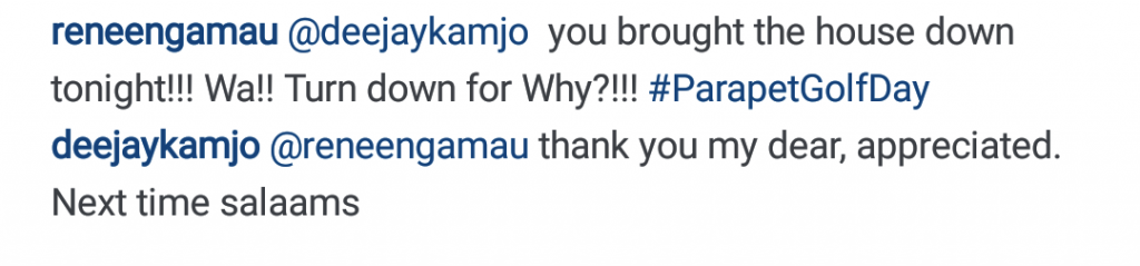 Testimonial by Renee Ngamau, Capital FM Breakfast presenter, a guest - comment on an Istagram post